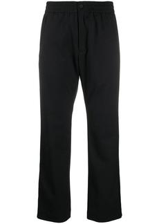 Y-3 Yohji Yamamoto cropped straight-fit trousers