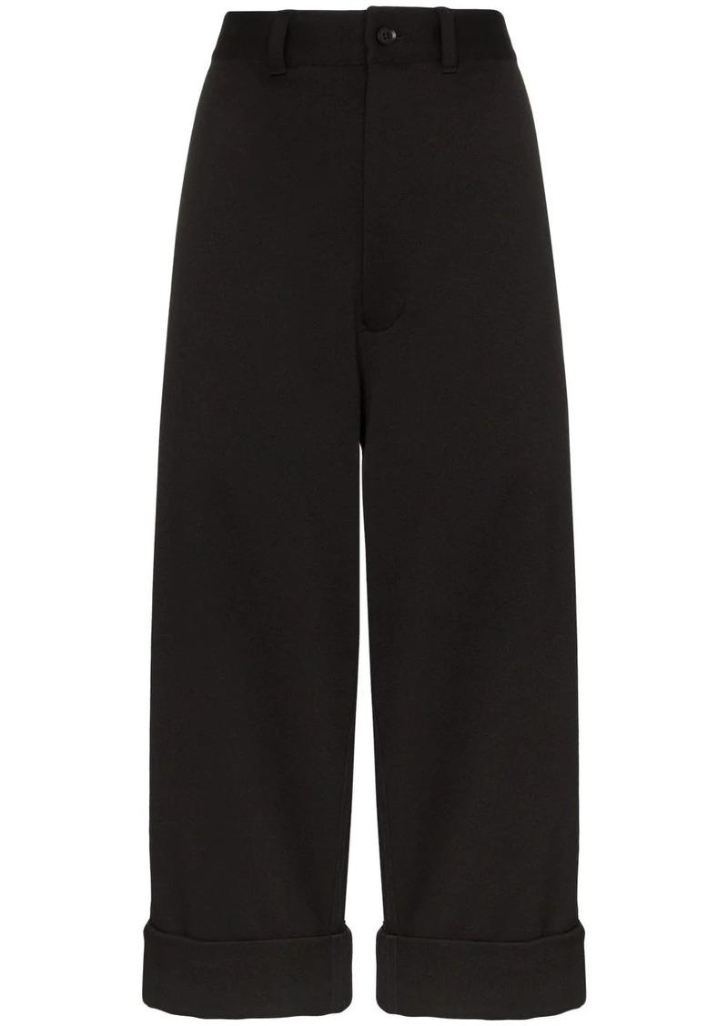 Y-3 Yohji Yamamoto cropped tailored trousers