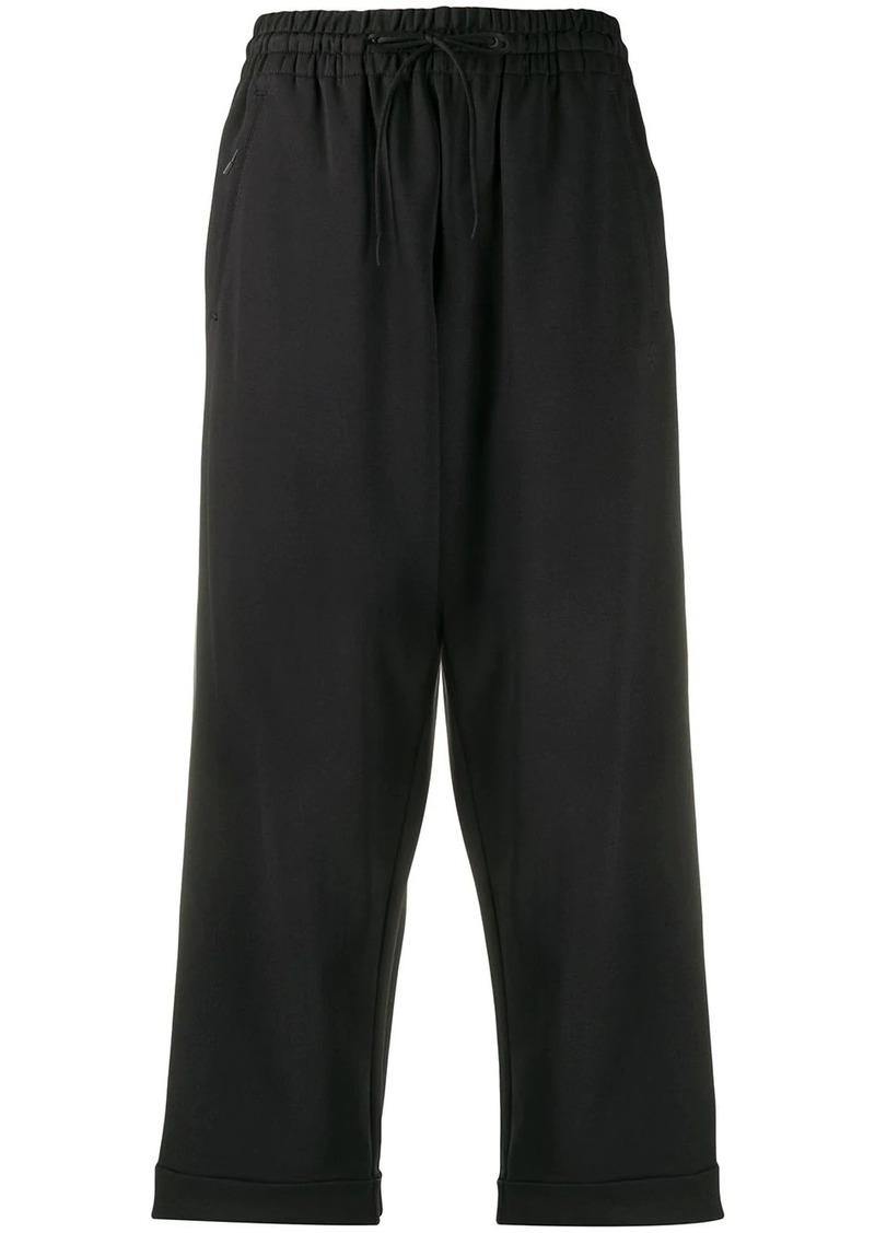 Y-3 Yohji Yamamoto cropped track trousers