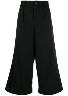 Y-3 Yohji Yamamoto cropped wide leg trousers