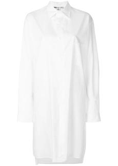 Y-3 Yohji Yamamoto embroidered back mid-length shirt