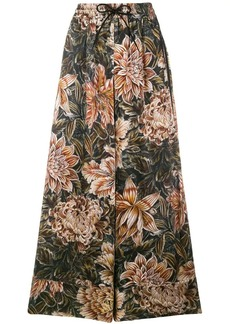 Y-3 Yohji Yamamoto flower flared trousers