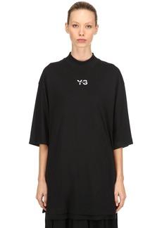 Y-3 Yohji Yamamoto Logo Layered Long Jersey  T-shirt