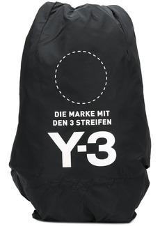 Y-3 Yohji Yamamoto logo print backpack