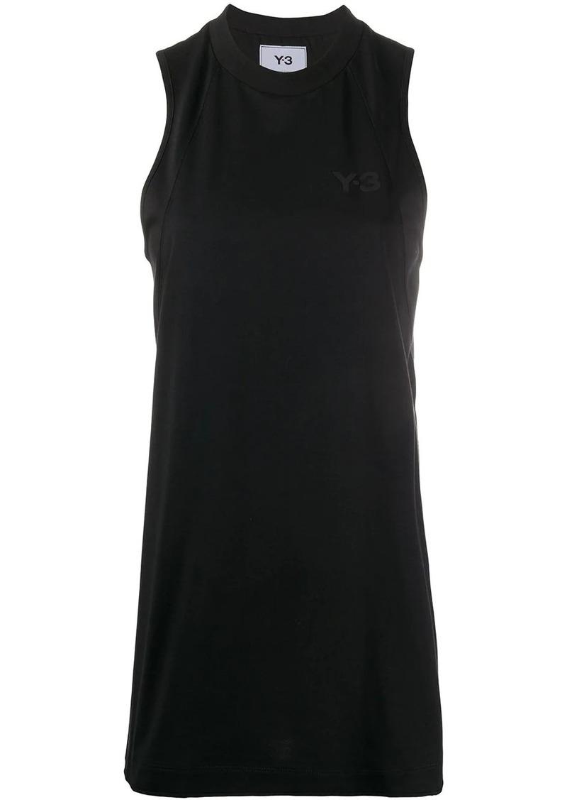 Y-3 Yohji Yamamoto logo-print sleeveless top