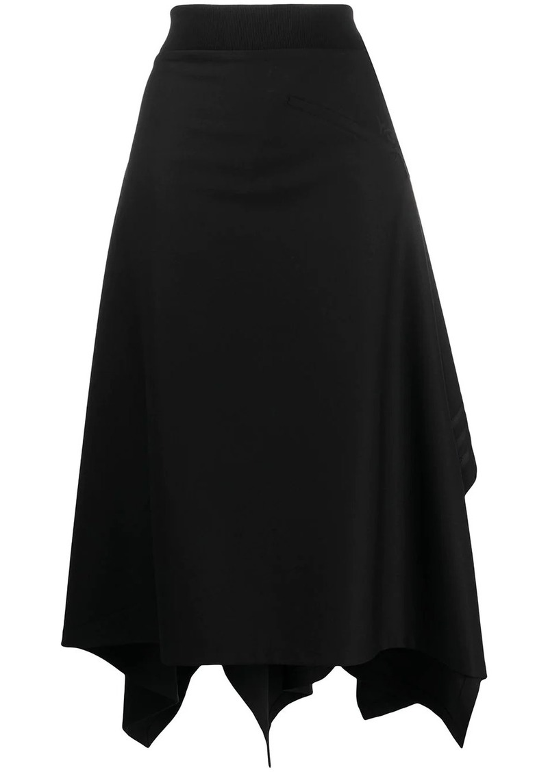 Y-3 Yohji Yamamoto long asymmetric hem skirt