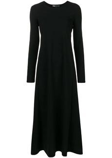 Y-3 Yohji Yamamoto long flared dress