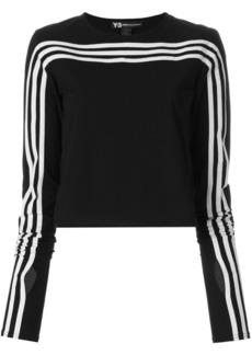 Y-3 Yohji Yamamoto long sleeve signature stripe T-shirt