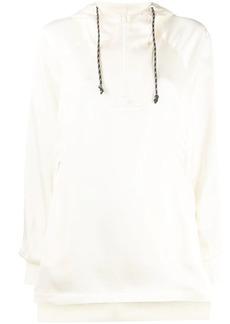 Y-3 Yohji Yamamoto loose half-zip hooded top
