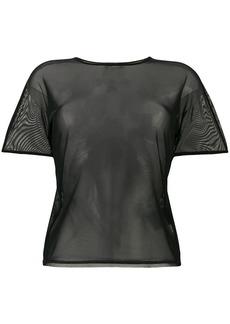 Y-3 Yohji Yamamoto mesh logo T-shirt