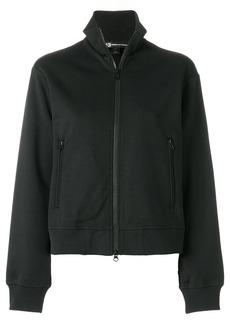 Y-3 Yohji Yamamoto open back zipped sweatshirt