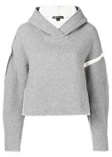 Y-3 Yohji Yamamoto oversize spacer wool cropped-hoodie