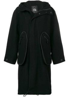 Y-3 Yohji Yamamoto oversized hooded coat