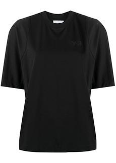 Y-3 Yohji Yamamoto piped-trim cotton T-shirt