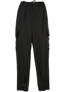 Y-3 Yohji Yamamoto pleated waist tailored trousers