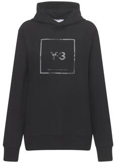 Y-3 Yohji Yamamoto Reflective Square Logo Hoodie