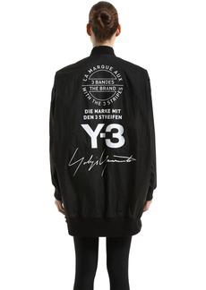 Y-3 Yohji Yamamoto Reversible Oversized Nylon Bomber Jacket