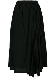 Y-3 Yohji Yamamoto ruched ruffle midi skirt