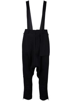 Y-3 Yohji Yamamoto shoulder strap cropped trousers
