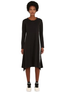 Y-3 Yohji Yamamoto Signature Long Cotton Jersey Dress