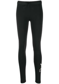 Y-3 Yohji Yamamoto stacked logo print performance leggings