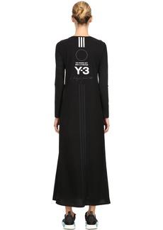 Y-3 Yohji Yamamoto Stacked Logo Stretch T-shirt Dress