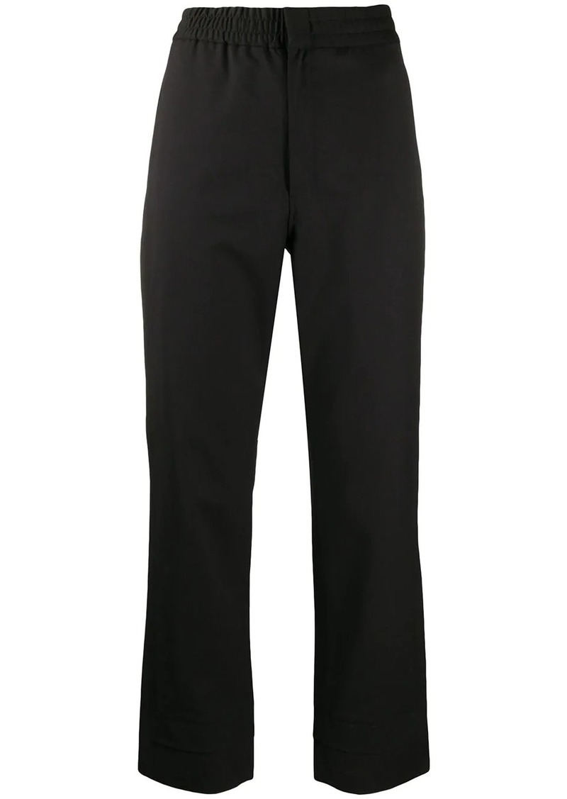 Y-3 Yohji Yamamoto straight-leg logo trousers