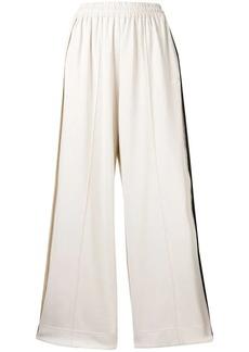 Y-3 Yohji Yamamoto striped wide-leg casual trousers