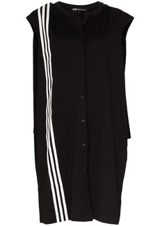 Y-3 Yohji Yamamoto three-stripe cape dress