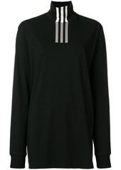 Y-3 Yohji Yamamoto tri-stripe print turtleneck sweatshirt