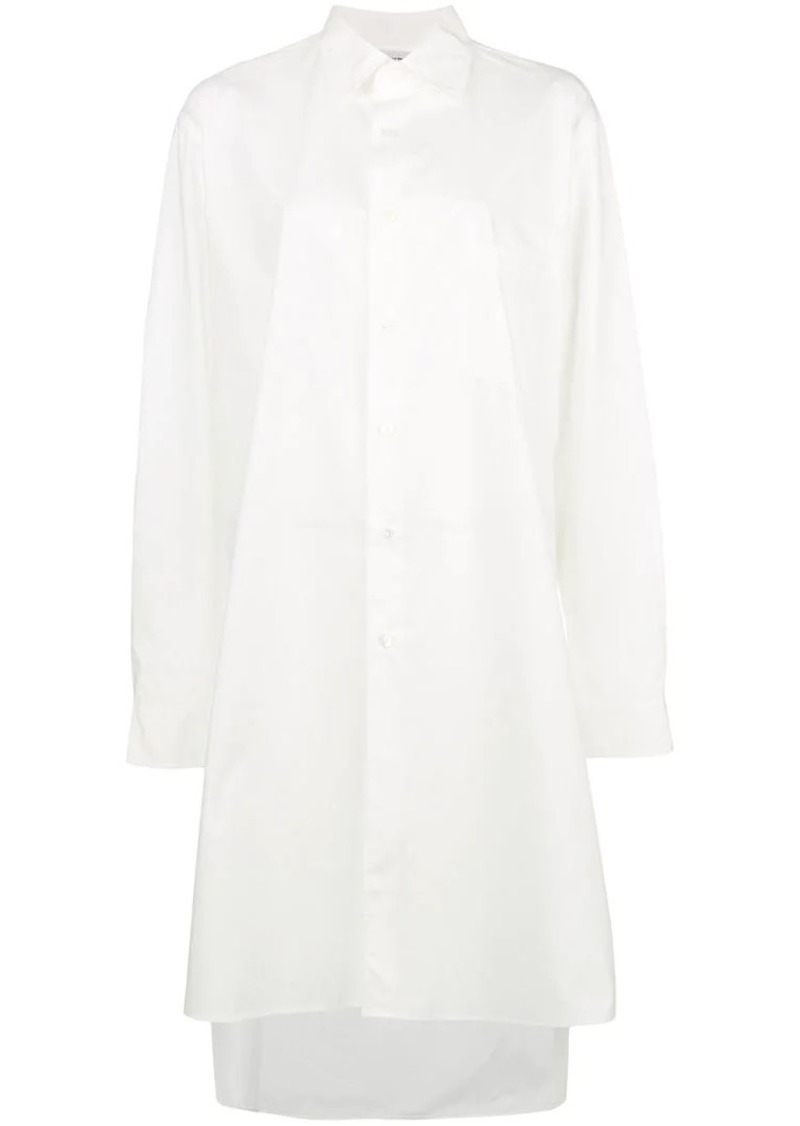 Y-3 Yohji Yamamoto tunic length collared shirt