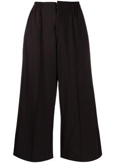 Y-3 Yohji Yamamoto wide leg cropped trousers
