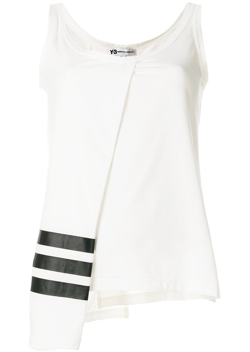 asymmetric panel tank top - White Yohji Yamamoto Outlet Affordable Free Shipping 100% Guaranteed Professional  Buy Authentic Online Sale Online Shopping LCtBTTx