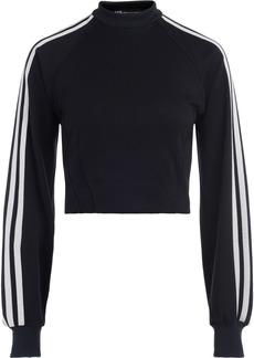 Adidas Black Crewneck Sweatshirt With White Side Stripes