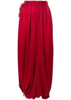 Y-3 Yohji Yamamoto Y-3 draped harem trousers - Red