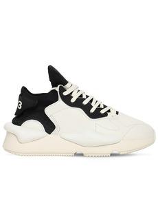 Y-3 Yohji Yamamoto Y-3 Kaiwa Leather & Textile Sneakers