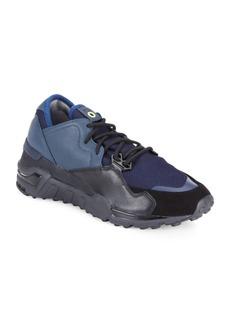 Y-3 Yohji Yamamoto Lace-Up Mesh Sneakers