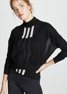 Y-3 Yohji Yamamoto Y-3 Layered Knit Crop Sweater