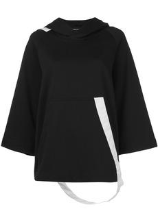 Y-3 Yohji Yamamoto Y-3 poncho-style hoodie - Black