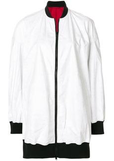 Y-3 Yohji Yamamoto Y-3 reversible oversize bomber jacket - White