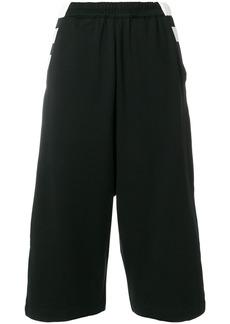 Y-3 Yohji Yamamoto Y-3 wide leg cropped trousers - Black
