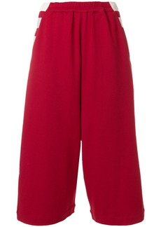 Y-3 Yohji Yamamoto Y-3 wide leg cropped trousers - Red