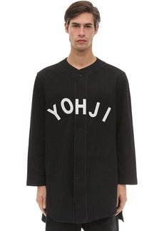 Y-3 Yohji Letters Cotton Baseball Shirt