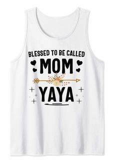 Ya-Ya Blessed To Be Called Mom And Yaya Thanksgiving Christmas Tank Top
