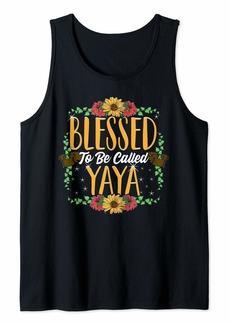 Ya-Ya Blessed To Be Called Yaya Cute Yaya Mothers Day Gifts Tank Top