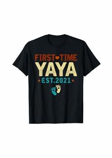 Ya-Ya First Time Yaya Est. 2021 Funny Pregnancy Announcement T-Shirt
