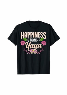 Ya-Ya Happiness Is Being A Yaya Shirt Floral Cute Mother's Day T-Shirt