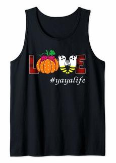 Ya-Ya Love Yaya Life Bee Ghost And Pumpkin Halloween T-Shirt Tank Top