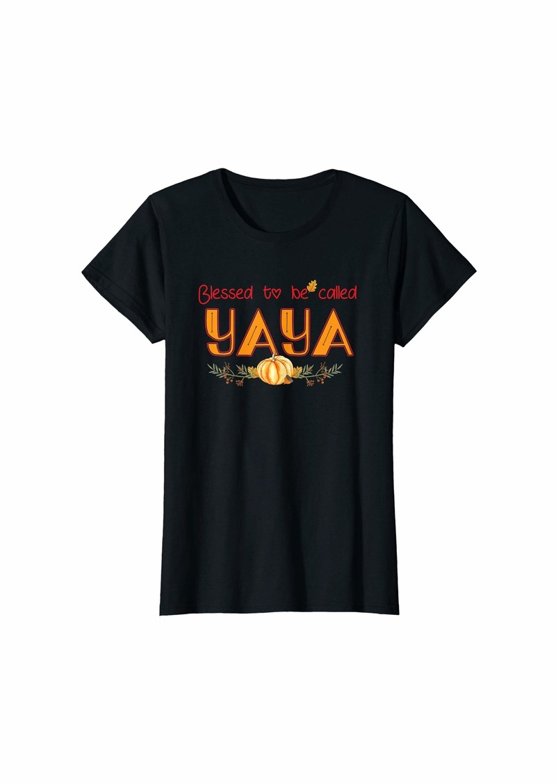 Ya-Ya Womens Blessed to called YAYA Family Thanksgiving day gifts T-Shirt