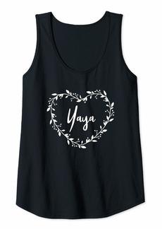 Ya-Ya Womens Yaya For Grandma Beautiful Yaya Gift Grandmother Gift Tank Top